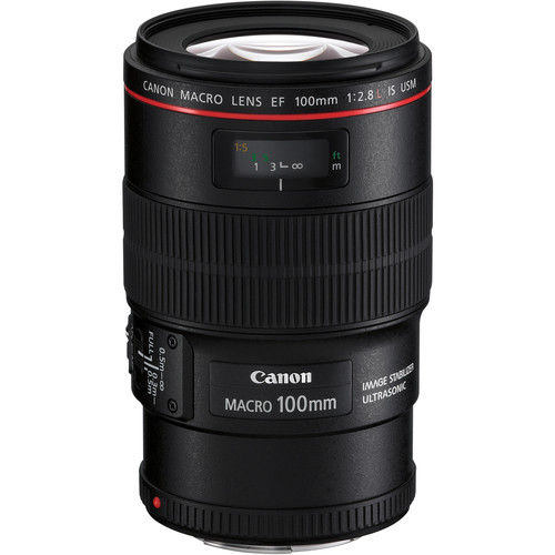 Canon 100mm F2.8L Macro IS front angle