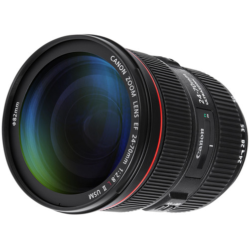 Canon 24-70mm F2.8L II front angled