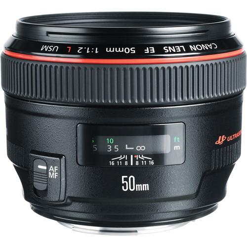 Canon 50mm F1.2L angle