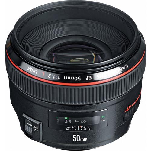 Canon 50mm F1.2L top angle