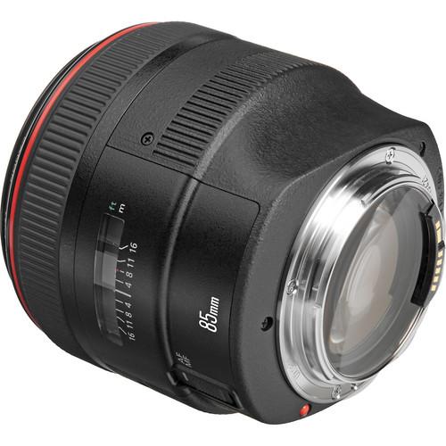 Canon 85mm F1.2L II back angle