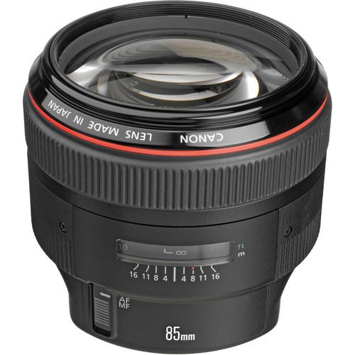 Canon 85mm F1.2L II top angle