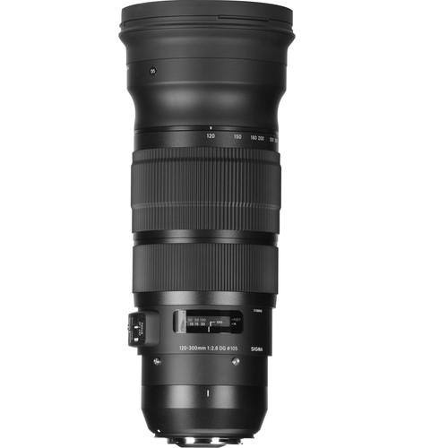 Sigma 120-300mm F2.8 Sport top angle